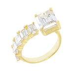 Gold / 6 Baguette Wrap Ring - Adina's Jewels