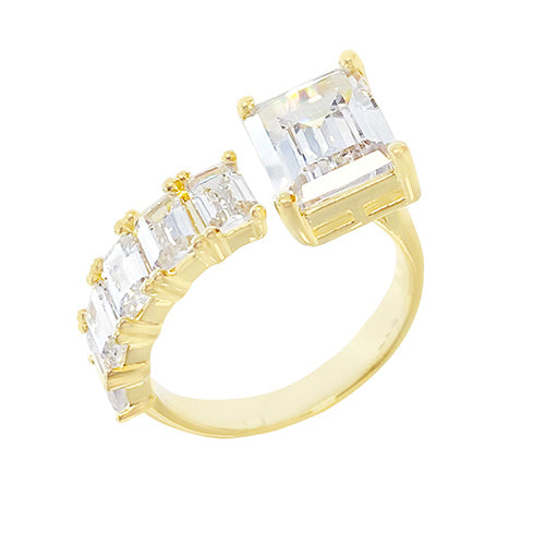 Baguette Wrap Ring Gold / 6 - Adina's Jewels