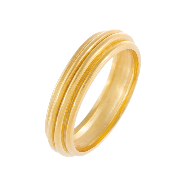 Ridged Solid Band Gold / 7 - Adina's Jewels
