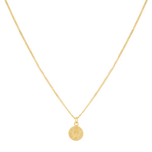 Tiny Coin Necklace Gold - Adina's Jewels