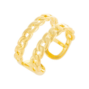 Double Chain Link Ring Gold - Adina's Jewels