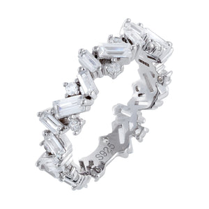 Multi-Shape Baguette Ring Silver / 6 - Adina's Jewels