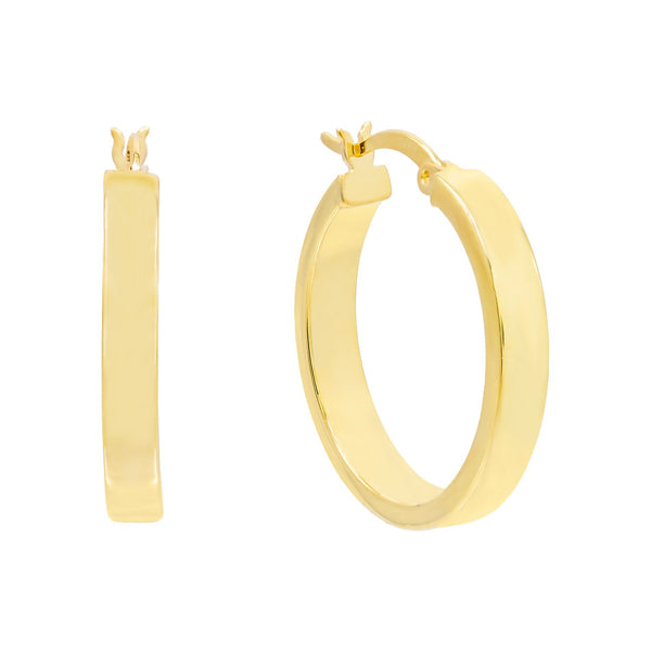 Gold / 25 MM Thick Wide Hoop Earring - Adina's Jewels