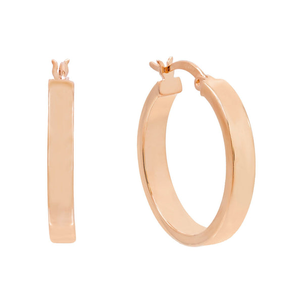Rose Gold / 25 MM Thick Wide Hoop Earring - Adina's Jewels