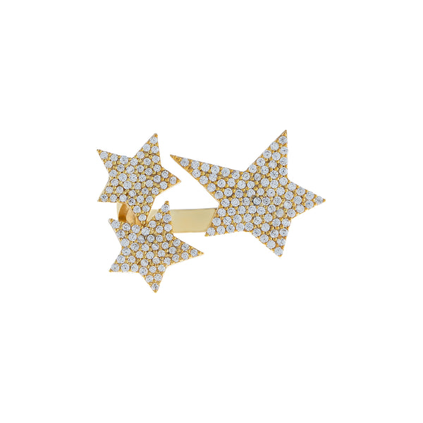 Pavé Triple Star Ring  - Adina's Jewels