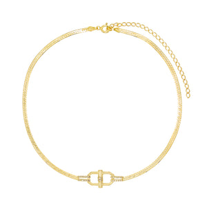 Snake Chain Toggle Bracelet Gold - Adina's Jewels