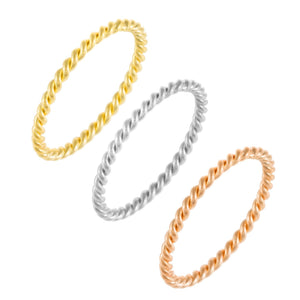 Combo / 5 Trio Rope Ring Combo Set - Adina's Jewels