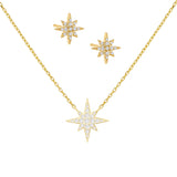 Gold Pavé Starburst Combo Set - Adina's Jewels