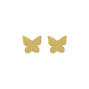 Solid Butterfly Stud Earring Gold - Adina's Jewels