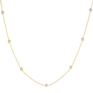 CZ Bezel Choker Gold - Adina's Jewels