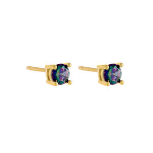 Mini Opal Stud Earring Opal - Adina's Jewels