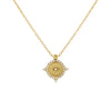 CZ Compass Necklace Gold - Adina's Jewels