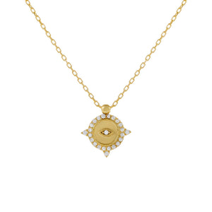Pavé Snake Drop Necklace Gold - Adina's Jewels