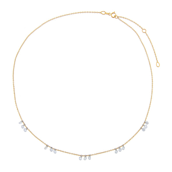 Floating Diamond Scattered Necklace 18K - Adina's Jewels