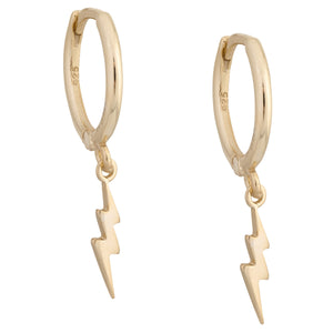 Bolt Huggie Earring Gold - Adina's Jewels