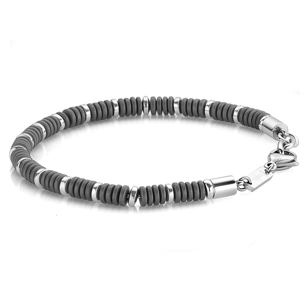 Black Hematite Bead Bracelet-Men - Adina's Jewels