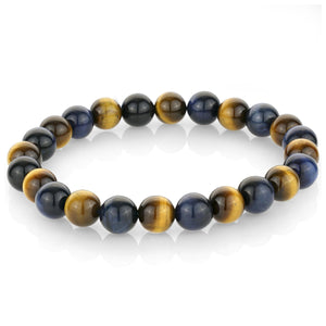 Sapphire Blue Multi Color Bead Bracelet - Adina's Jewels