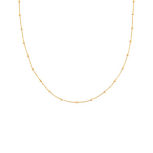14K Gold Ball Chain Necklace 14K - Adina's Jewels