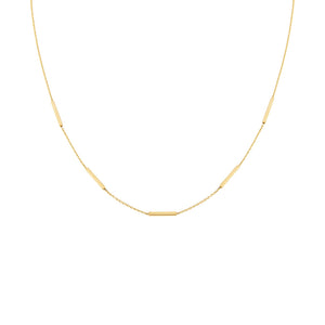 14K Gold Thin Bars Necklace 14K - Adina's Jewels
