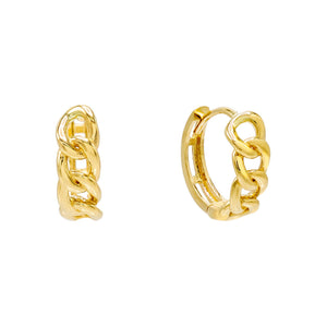 Chain Huggie Earring 14K 14K Gold - Adina's Jewels