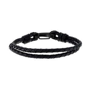 Onyx IP Onyx Leather Bracelet - Adina's Jewels