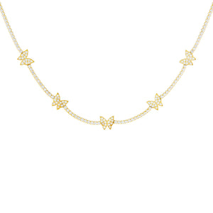 Gold Butterfly Tennis Choker - Adina's Jewels