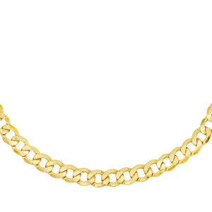 XL Hollow Cuban Choker 14K 14K Gold - Adina's Jewels