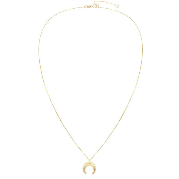 Cowhorn Necklace 14K - Adina's Jewels