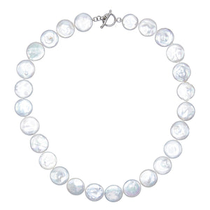 Pearl Disc Necklace - Adina's Jewels
