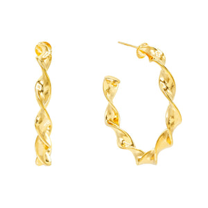 Spiral Hoop Earring Gold - Adina's Jewels