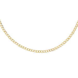 14K Gold Cuban Choker 14K - Adina's Jewels