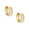 Diamond Baguette Huggie Earring 14K - Adina's Jewels