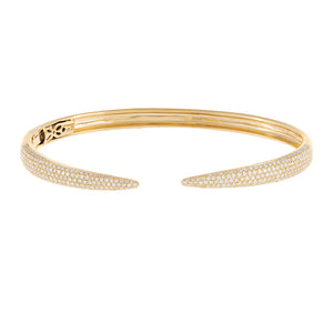 14K Gold Diamond Claw Bangle 14K - Adina's Jewels