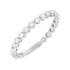 14K White Gold / 7 Diamond Thin Eternity Band 14K - Adina's Jewels