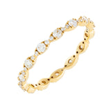 14K Gold / 6 Diamond Evil Eye Band 14K - Adina's Jewels