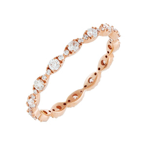 Diamond Evil Eye Band 14K - Adina's Jewels