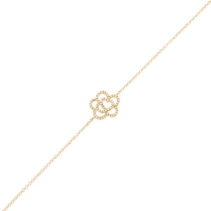 14K Gold Diamond Flower Bracelet 14K - Adina's Jewels