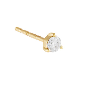 14K Gold / Single Diamond Solitaire Stud Earring 14K - Adina's Jewels