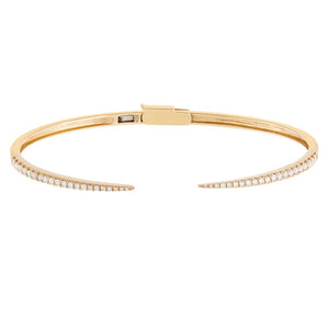 14K Gold Diamond Thin Claw Bangle 14K - Adina's Jewels