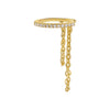Gold / Single Pavé Chain Ear Cuff - Adina's Jewels