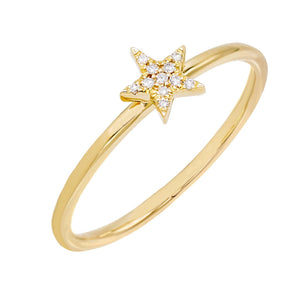 Diamond Star Ring 14K 14K Gold / 6.5 - Adina's Jewels
