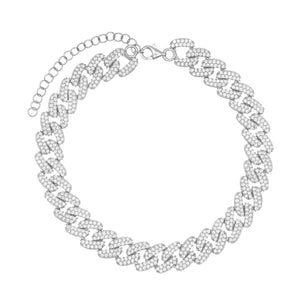 Chain Link Anklet Silver - Adina's Jewels