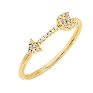 Diamond Arrow Ring 14K 14K Gold / 6.5 - Adina's Jewels