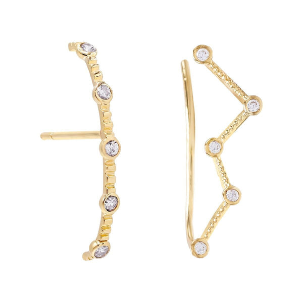 Combo Bezel Earring Combo Set 14K - Adina's Jewels
