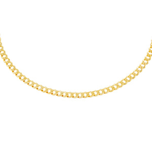 "Gold / 15.75"" / 3.5 MM Extra Flat Cuban Chain Necklace - Adina's Jewels"