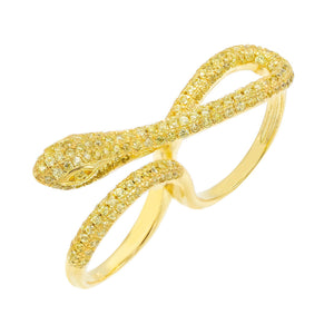 Gold / 5 Snake Double Ring - Adina's Jewels