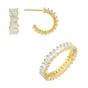 Gold / 5 The Mini Baguettes Holiday Gift Combo Set - Adina's Jewels