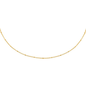 Gold Beaded Chain Choker - Adina's Jewels
