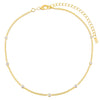 CZ Bezel Cuban Chain Choker - Adina's Jewels