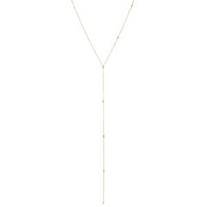 Gold Dainty Bezel One-Sided Lariat - Adina's Jewels